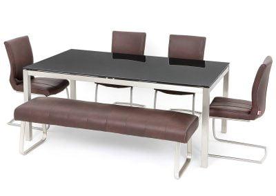 Milzano Black Glass Table