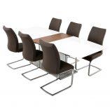 Dolcedo-White-Walnut-Table-Grey-Paderna-Chairs
